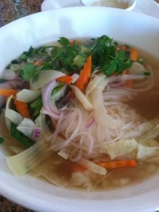 Vegetable Pho (vietnamese noodle soup)