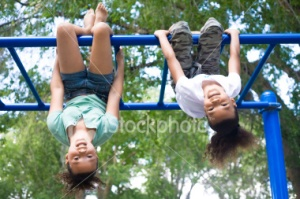 upside down monkey bars